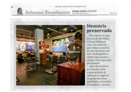 Clipagem Zero Hora PG 30 Informe Economico